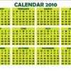 Free Vector: Simple Calendar 2010 Design