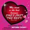 Contest Winner: Win a RETURN TICKET simply because you love your mom!
