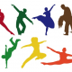 Free Vector: Dancing Silhouettes