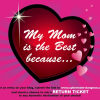 Win a RETURN TICKET simply because you love your mom!