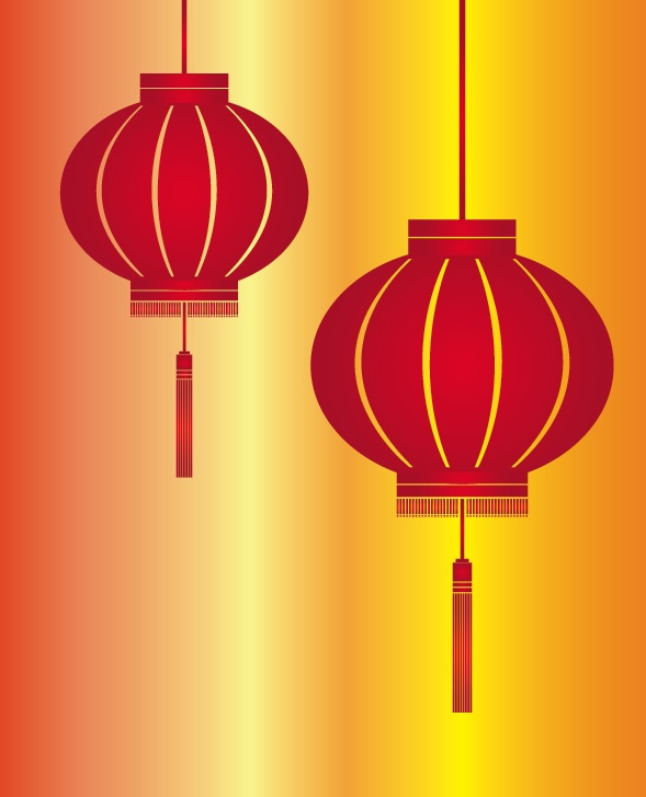 free vectorred lantern for